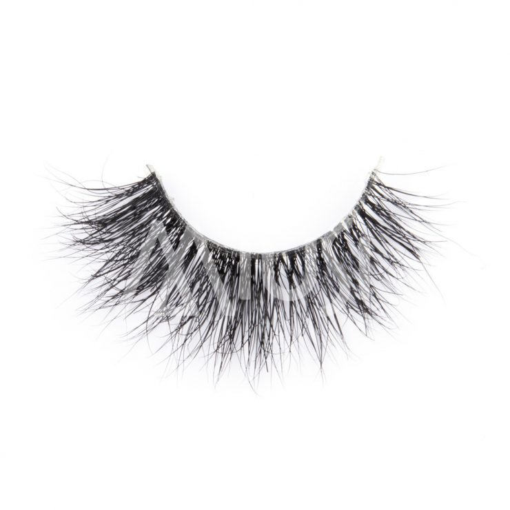 MIUSI Wholesale 3D Clear Band Mink Lashes Natural Long Cross Lashes Handmade Strip Eyelash MEC0004