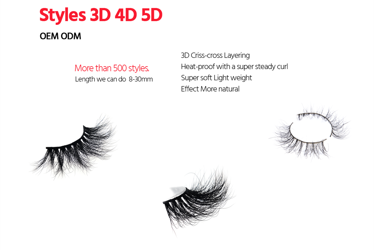3D Mink False Eyelashes Wholesale