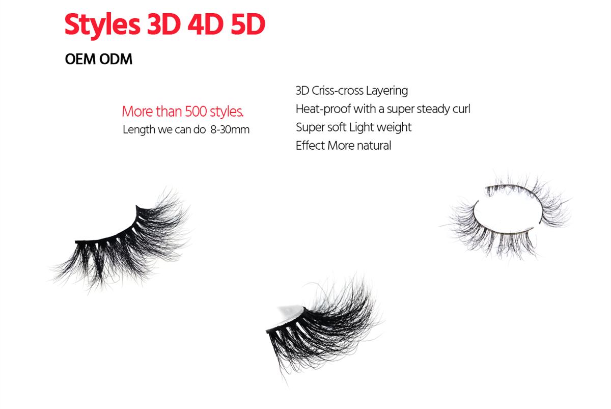 3D Mink False Eyelashes Wholesale